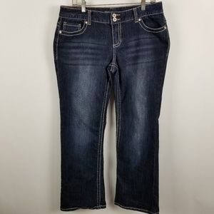 Maurices Jeans Womens Flare Boot Cut 11/12 Short